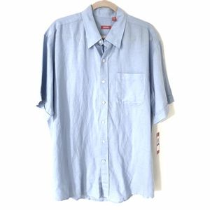 NEW Izod* Men's Shirt Linen Button Down Solid XLT